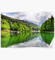 Lake Riessersee III. Germany. Poster