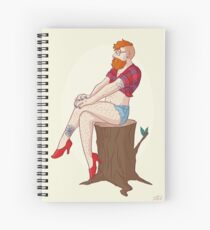 Pin-up Guy Spiral Notebook