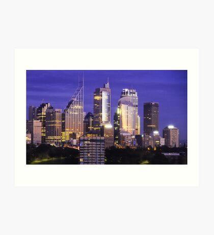 Sydney skyline at dawn Art Print