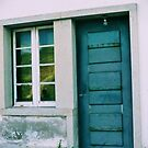 Old police station door at Burgau Portugal by calam19