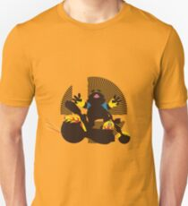 Wario (Riding Bike) - Sunset Shores T-Shirt