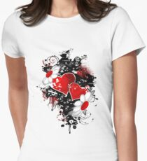 Fancy fashion hearts t-shirt Womens Fitted T-Shirt