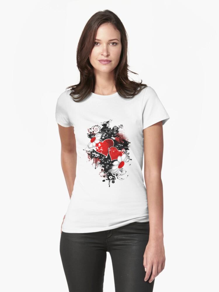 Fancy fashion hearts t-shirt by Amalia Iuliana Chitulescu