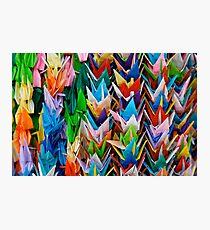 Paper Cranes at Fushimi Inaritaisha Photographic Print