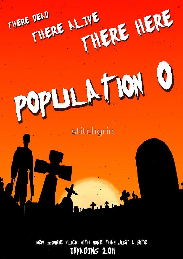 Population zero movie poster by stitchgrin