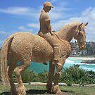 Sculptures by the sea - Bondi - Straw Horseman by Marius Brecher