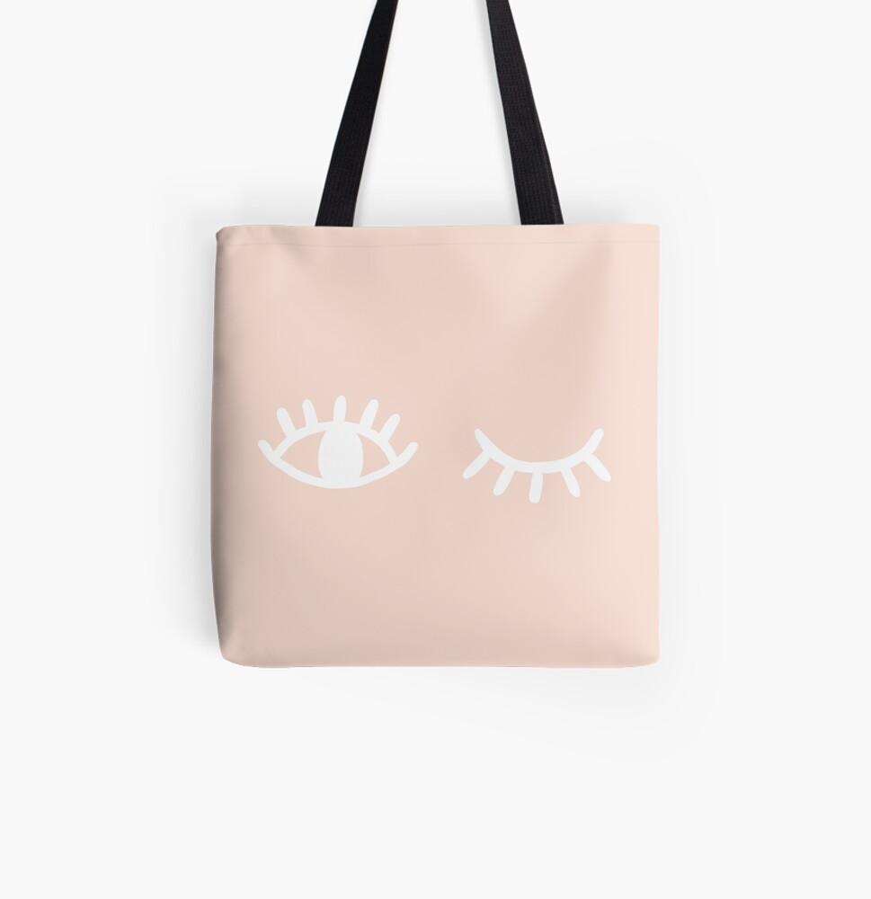 Wink All Over Print Tote Bag