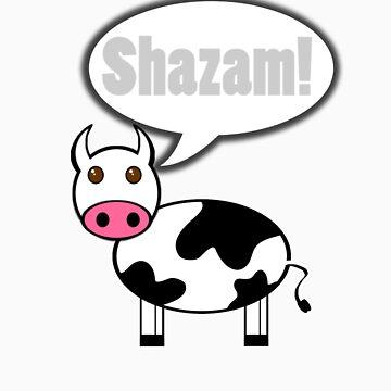 Cow goes Shazam! by Borg2000