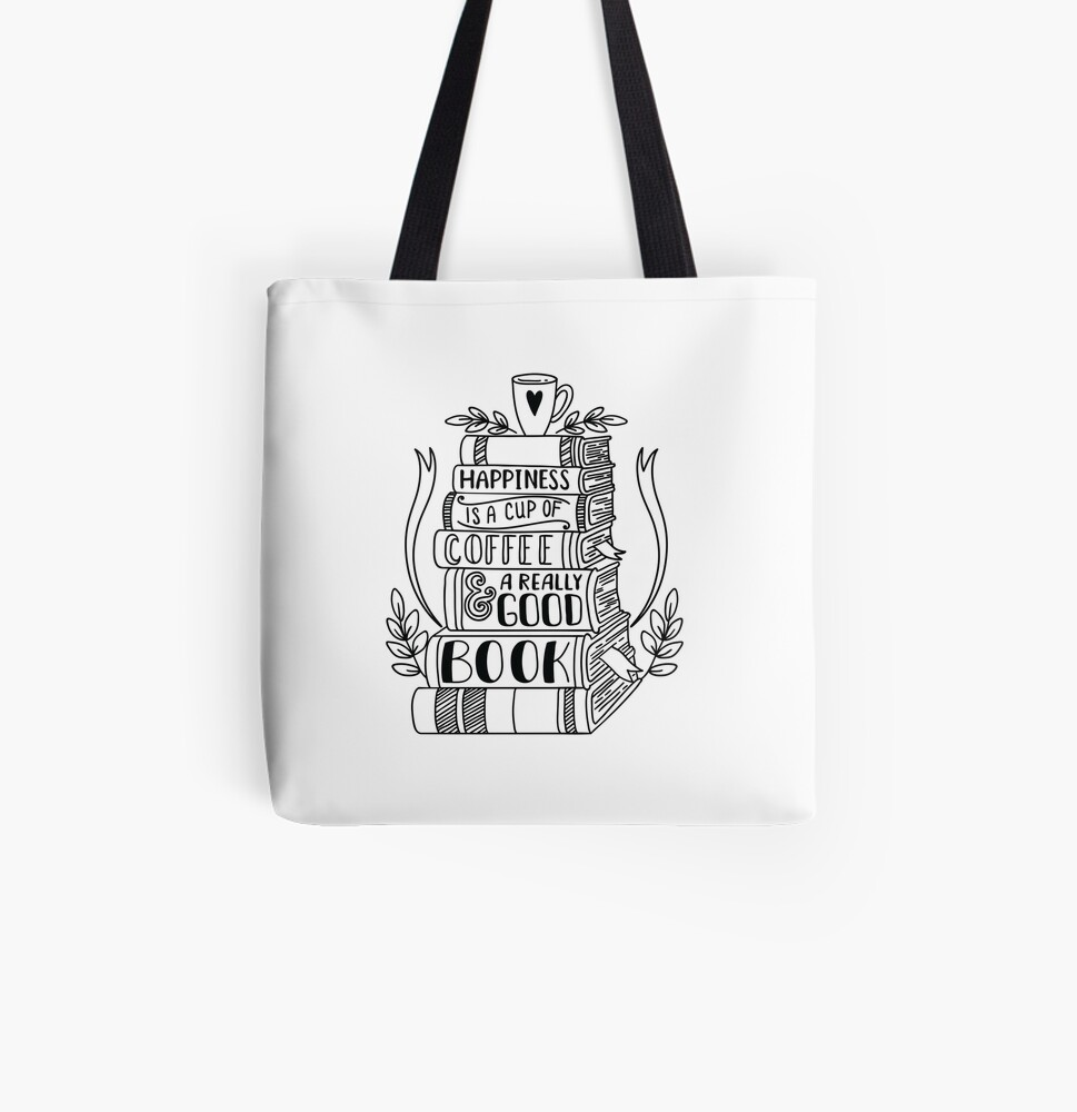 Happiness All Over Print Tote Bag