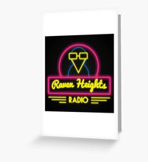 Raven Heights Radio Logo Greeting Card