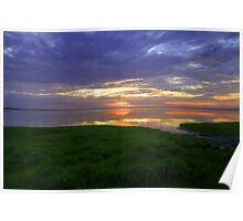 Grassy Sunrise Poster