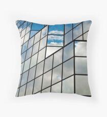 Glass office building. Throw Pillow