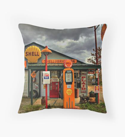 Americana at It's Best- SHELL Gasoline Throw Pillow