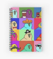 Party Parrot Pride Parade Spiral Notebook