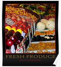 FRESH PRODUCE - POSTER Poster
