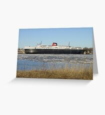 Lake Michigan Carferry SS Badger Greeting Card