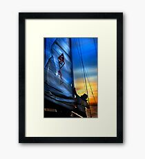 Set The Mast Down by: Linaji Framed Print