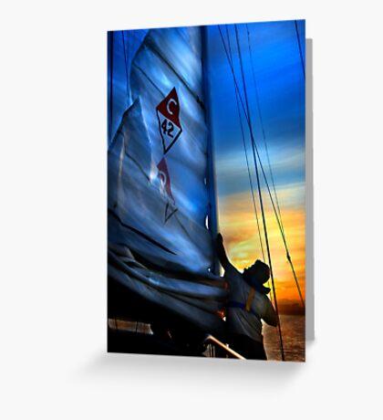 Set The Mast Down by: Linaji Greeting Card