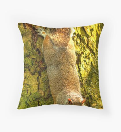 Hanging Out For Lunch. Throw Pillow