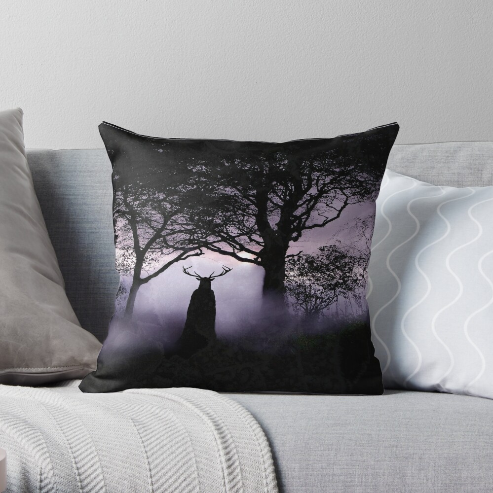 Shadow of Herne Throw Pillow