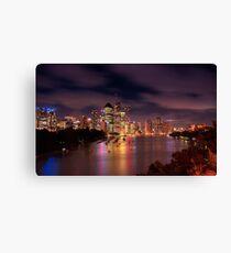 Brisbane @ sunset Canvas Print