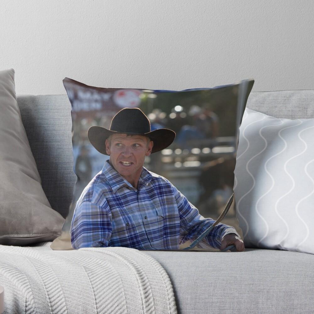 Moruya Rodeo New Years Day 2012 Throw Pillow