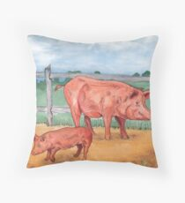 Tamworth Pigs Throw Pillow