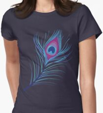 the peacock feather Women's Fitted T-Shirt