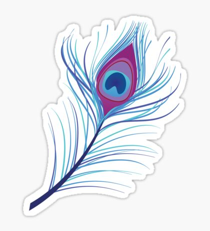 the peacock feather Sticker