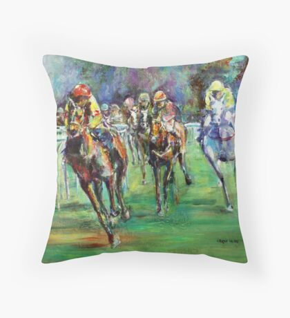 Racing Colours number 2 Throw Pillow
