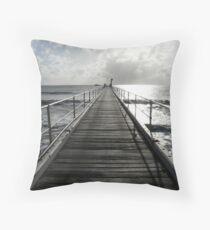 Mission Beach  Throw Pillow