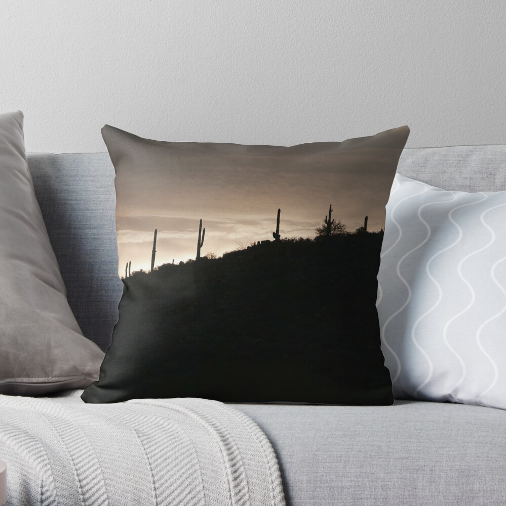 Cacti on the Ridge Throw Pillow