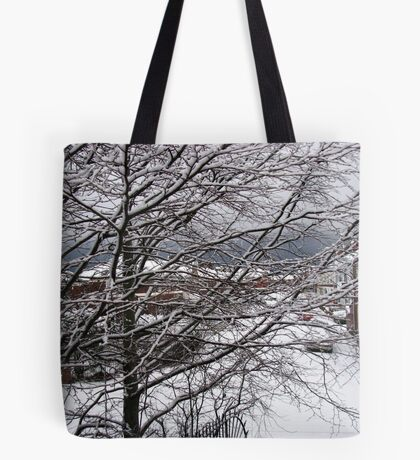 A Snowy Morning in January Tote Bag