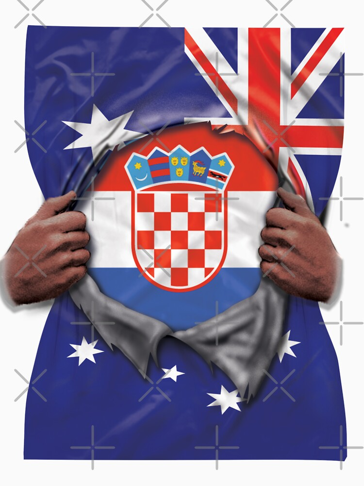 Croatia Flag Australian Flag Ripped Open - Gift For Croatian From Croatia von Popini