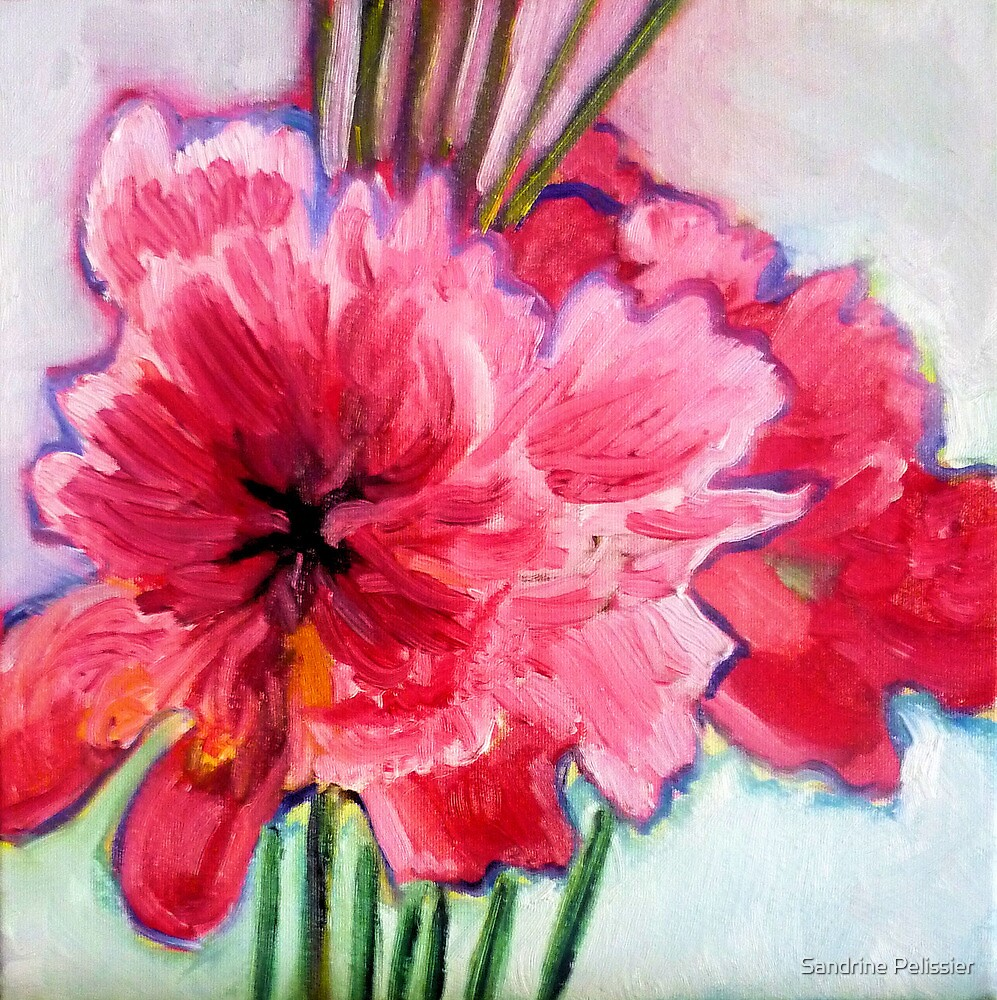 Gift, oil painting on canvas by Sandrine Pelissier