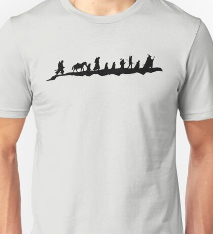 The Fellowship of The Ring (black) Unisex T-Shirt