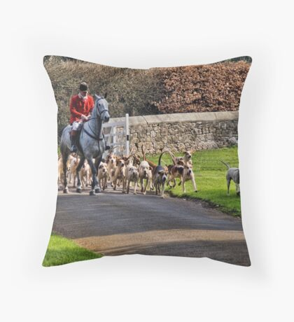 Horse & Hounds Throw Pillow