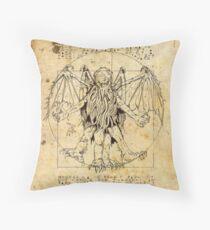 Cthulhu Vitruvian Throw Pillow