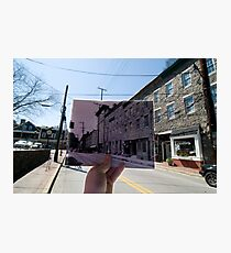 Looking Into the Past: Main Street, Ellicott City, MD Photographic Print