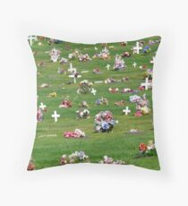 Spontaneous Cemetery Symmetry. Throw Pillow