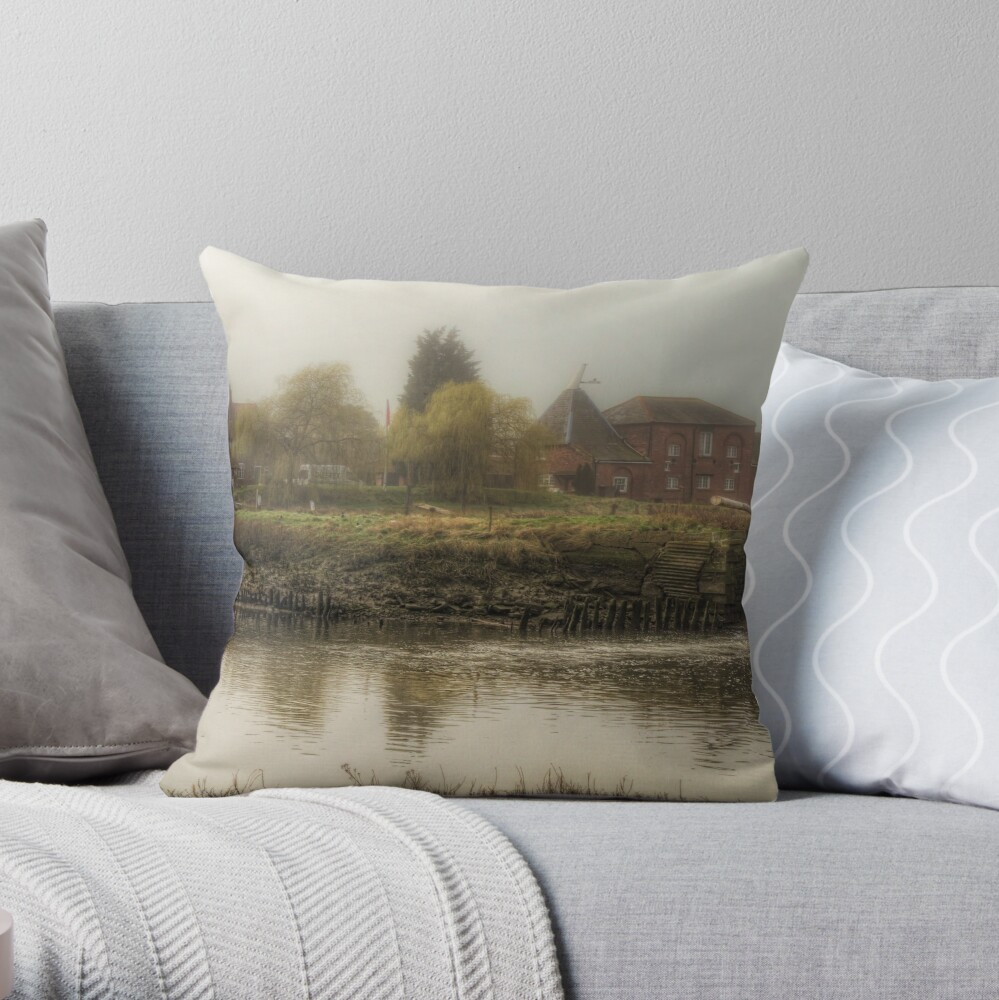 Tidal Watermill Throw Pillow