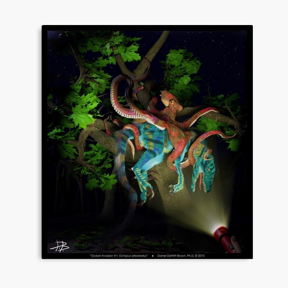 Ocean Invasion #1: Octopus arborealus Canvas Print