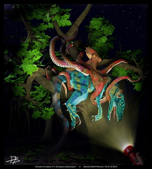 Ocean Invasion #1: Octopus arborealus by Daniel Brown