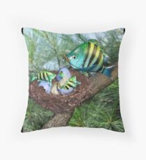 Ocean Invasion #3: First Breakfast Throw Pillow