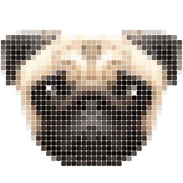 Pug Tile by alanwigg