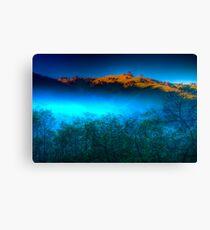 Morning Fog Near Lake Eildon Canvas Print
