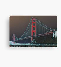 Golden Gate Bridge Altered Canvas Print