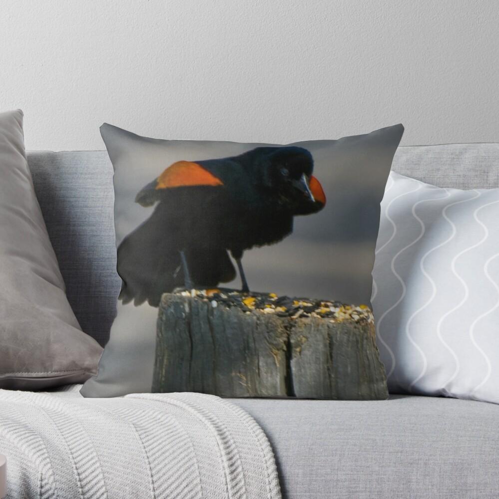 Red Winged Blackbird Dekokissen