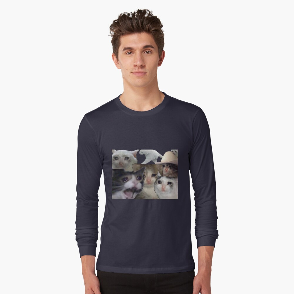 """""""CRYING CATS - MEME"""" T-shirt by pepecharls   Redbubble"""
