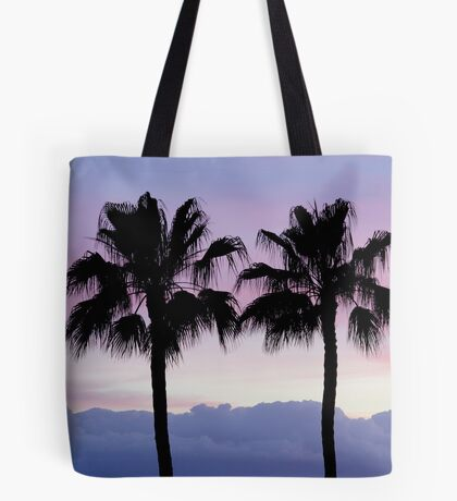 Purple sunset in Los Gigantes Tote Bag